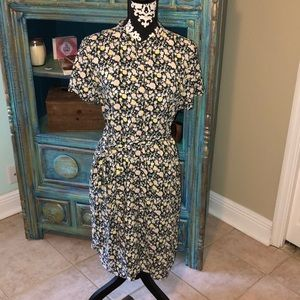 LOFT floral dress L